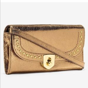 Cole haan leather crossbody with gift box